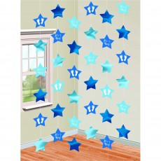 Baby Shower - General Blue Stars String Hanging Decorations