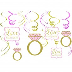Wedding Swirl Love Always & Forever Hanging Decorations Pack of 12