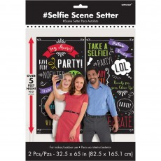 Chalkboard Party Decorations - Scene Setters Photo Booth Phrases