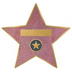 Glitz & Glam Star Sticker Walk of Fame Hollywood Favours