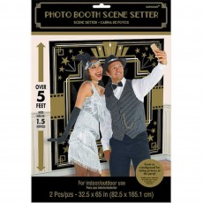 Glitz & Glam Black & Gold Photo Booth Scene Setters