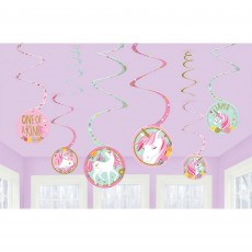 Magical Unicorn Spiral Hanging Decorations