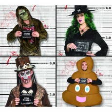 Halloween Party Supplies - Scene Setters - Costume Lineup