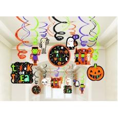 Halloween Hallo-ween Friends Swirls Hanging Decorations
