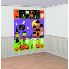Halloween Hallo-ween Friends Scene Setter Wall Decorations