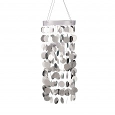 Silver Circles Chandelier Hanging Decoration