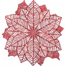Christmas Party Supplies - Poinsettia Vinyl Placemat