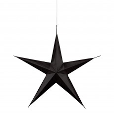Black 3D Star Hanging Decorations Pack of 3