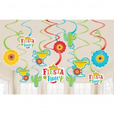 Mexican Fiesta Party Decorations - Hanging Decorations Swirl