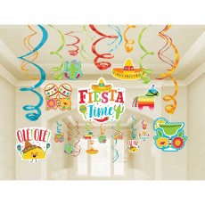 Mexican Fiesta Swirl Mega Hanging Decorations
