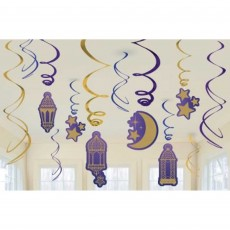 Moon & Stars Swirl Hanging Decorations
