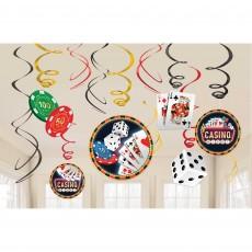 Casino Night Roll The Dice Swirl Hanging Decorations