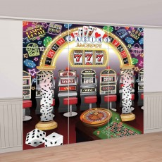 Casino Party Decorations Roll The Dice Deluxe Scene Setters