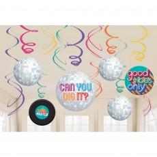 Disco & 70's Swirl Hanging Decorations