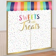 Sweets & Treats Scene Setters 2 x 82cm x 165cm Pack of 2
