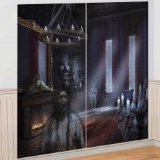 Halloween Party Supplies - Dark Manor Wall Decorating Kit