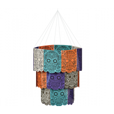 Halloween Day of the Dead Sugar Skull Chandelier Hanging Decoration
