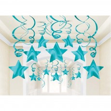 Hollywood Shooting Star Swirls Hanging Decorations Pack of 30