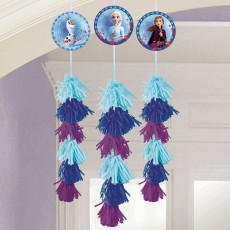 Disney Frozen 2 Dangling Hanging Decorations 1.9m Pack of 3
