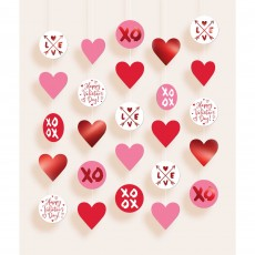 Valentine's Day Circle String Hanging Decorations