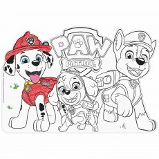 Paw Patrol Party Supplies - Adventures Colour In Placemats