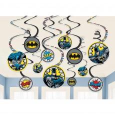 Batman Party Decorations - Hanging Heroes Unite Spiral Swirls