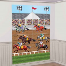 Horse Racing Party Decorations - Scene Setters Derby Wall