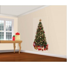Christmas Party Decorations - Scene Setter Christmas Tree Add on Wall