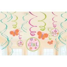 Tweet Baby Girl Swirl Hanging Decorations