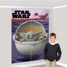 Star Wars Party Decorations - Wall Decor The Mandalorian Scene Setter