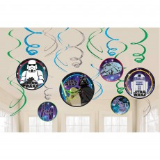 Star Wars Party Decorations - Hanging Decorations Galaxy Swirl