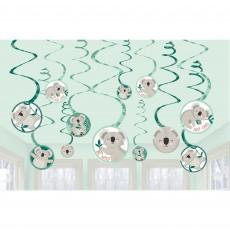 Koala Party Decorations - Hanging Decorations Spiral Swirl
