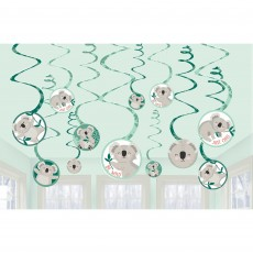 Koala Spiral Swirl Hanging Decorations