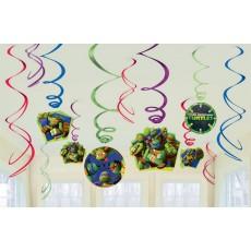 Teenage Mutant Ninja Turtles Swirl Hanging Decorations Pack of 12