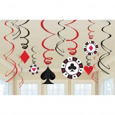 Casino Night Place Your Bets Swirl Hanging Decorations