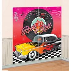 Rock n Roll Classic 50's Scene Setters Pack of 2