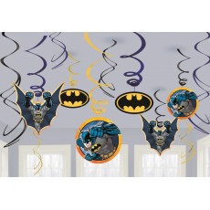 Batman Swirls Hanging Decorations Pack of 12
