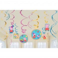 Peppa Pig Swirls Hanging Decorations