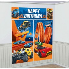 Hot Wheels Wild Racer Wall Decoration Scene Setters 5 Items