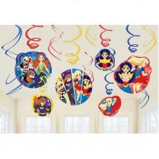 Super Hero Girls Party Decorations - Hanging Decorations Swirls