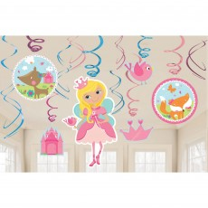 Woodland Princess Swirl Hanging Decorations