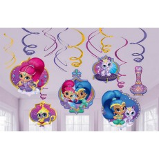 Shimmer & Shine Swirls Hanging Decorations Pack of 12