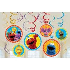Sesame Street Swirl Hanging Decorations Pack of 12