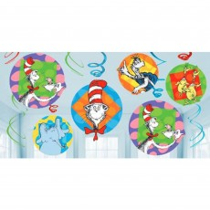 Dr Seuss Swirl Hanging Decorations
