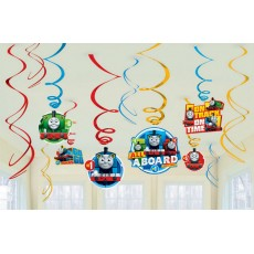 Thomas & Friends All Aboard Swirl Hanging Decorations Pack of 12