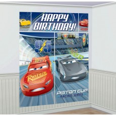 Disney Cars 3 Wall Decoration Scene Setters