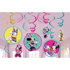 Minnie Mouse Happy Helpers Swirl Hanging Decorations Pack of 12
