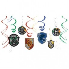 Harry Potter Swirl Hanging Decorations Pack of 12