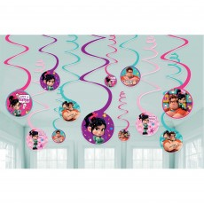 Wreck It Ralph Spiral Hanging Decorations