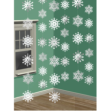 Christmas Party Decorations - Hanging Decorations Snowflakes String